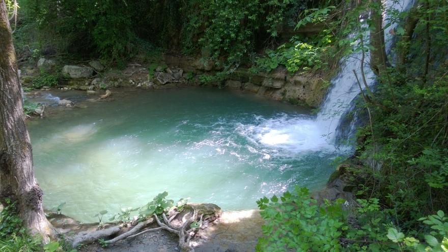 natural swimming pool, Tescio's river, Mount Subasio