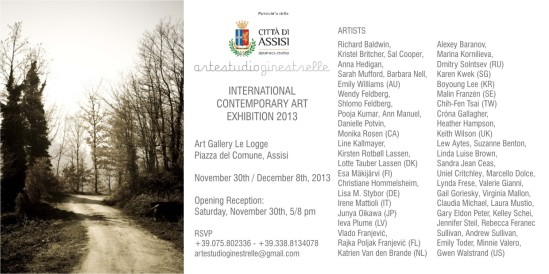 Assisi International contemporary art exhibition 2013, invitation jpg