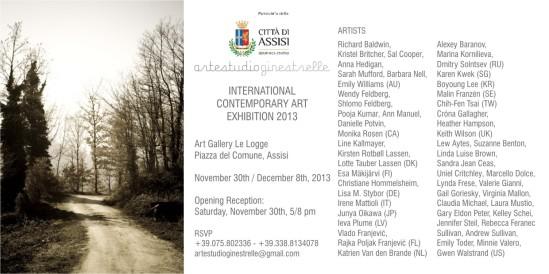 Assisi International contemporary art exhibition 2013, invitation jpg