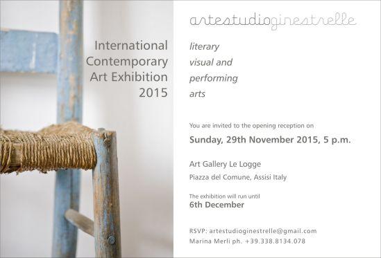 Invitation flyer, Assisi International exhibition 2015