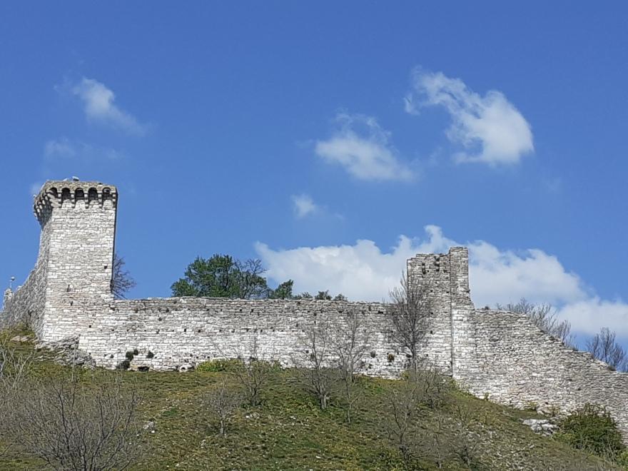 clouds and sky, Rocca Maggiore, Assisi